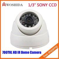 Wholesale 1 quot SONY CCD Dome Camera Home Indoor HD IR Security Camera CCTV Camera TVL Night Vision White Woshida