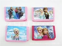 Wholesale Baby girls Frozen purse Elsa Anna cartoon wallet change pocket Frozen purse styles mixed kids bags A025