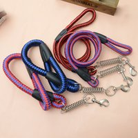 Wholesale Pet spring round rope traction rope squares Pet nylon rope Pet pet traction rope
