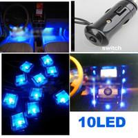 Wholesale Brand New V Car Interior LED Decoration Foot Light Well Neon Flash Lights Lamp H1