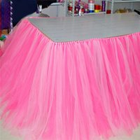 baby shower events - Tulle Tutu Table Skirt for Wedding Decoration Event Birthday Baby Shower Party Supplies Table Skirts JM0156 salebags