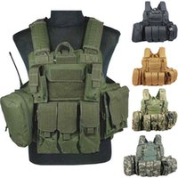 airsoft vest - Tactical vest military Law Enforcement SWAT Vest plate carrier airsoft vest Sportsman navy seal assault vest coyote d camo men CS Vest