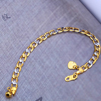 Wholesale 2016 new mm Unisex k Men s Fashion Gold Direct Selling Top Link Chain Copper Fine Jewelry Toggle clasps Link