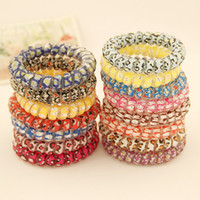 Wholesale 2015 New Colorful Girl s Rubber Hair Ties Bands Headband Phone Strap Hair Band