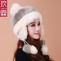 Wholesale National Autumn and winter Lei Feng Ear cap Thicken Warm Fashion Imitation rabbit hair Millinery Princess cap