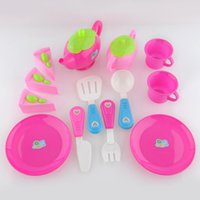 afternoon tea food - Christmas gifts Set Plastic Pretend Play Toy Set Afternoon Tea Dishes Dessert Food Teapot