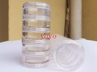 Wholesale 5g ml Small Round sample Cream Bottle Jars container Mini plastic container for nail art storage DIY PS plastic bottles