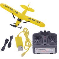 airplane kit rc - HL803 gull CH RC IR airplane Gyro super glider EPP J3 CUB Air Sailer