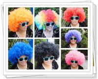 Cheap Halloween Wigs   fans wig   afro wig   clown wigs colourful wigs 10pcs lot free-shipping