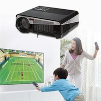 Wholesale Free Gift inch Screen Full HD Proyector lumen Android Wifi LED Multimedia video D TV Projector DHL free ship