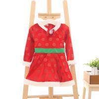 Wholesale HOT Christmas Dress Wool Cloth Soft Nap Neckline Wave Kind Skirt New Year Dress Children s Fashion Dresses
