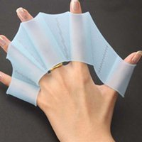 Wholesale New Flying Fish Webbed Flippers Silicone Material Palm Swimming Fins For Hands