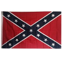 Wholesale Confederate Rebel Flag Civil War Flag Confederate Battle Flags Two Sides Printed Flag National Polyester Flags