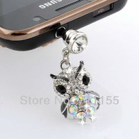 Cheap Wholesale-Free Shipping,100% AAA Quality,EPT Health Metal Alloy,Cute Owl Dust Plug Cell Phone Accessories,Min Order $10