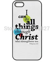 bible cases - Top Selling Bible Verse I can Do All Things Hard Durable Cell Phone Shell Case for iphone s s c plus