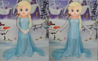 Wholesale Hot Sale Cartoon Character Princess Frozen Elsa Dress from Hot Movie Elsa Mascot Costume Theme