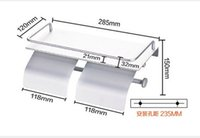 aluminum paper holder - Contemporary Aluminum Wall Mounted Double Toilet Paper Holder