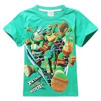 Wholesale 4 Y Kids Teenage mutant ninja turtles T shirt Short Sleeved Summer T shirt Cotton Clothes Boys Girls Kids Fashion Clothes