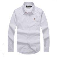 Wholesale Men s Dress Shirt Brand Tops Mens Slim Fit Blouse Long Sleeve Fashion Dress Men Shirts Trim formal Shirts Cardigans