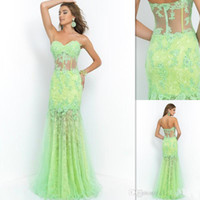 dresses uk - Mermaid Style Prom Dresses Modest Lime Lace Sweetheart See Through Corset Cheap Evening Party Gowns Custom Made UK Vestido De Festa