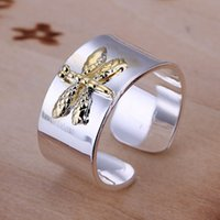 sterling silver rings - Fashion Sterling Silver rings jewelry dragonfly open style rings