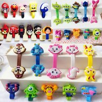 Wholesale Kawaii Cartoon Animal Long Cable Winder Headphone Earphone The headset bobbin winder Organizer Wire Holder