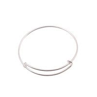 bracelets wholesale cheap bangles - Bracelets cheap bangles mm diameter silver plated bracelet for beading or charms Alex and Ani style expandable bangles FHY01