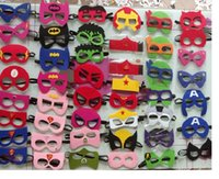 Wholesale Superhero masks Felt Mask Batman Spiderman Hulk Thor TMNT Ninja Transformer Bumblebee mask Halloween Party Supplies for Kids
