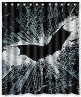 batman curtains - Printing brave and cool Batman cartoon style Bathroom Shower Curtain Anti water and mildew size x72inch and x72inch curtains