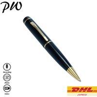 Wholesale Free DHL P Mini Pen Hidden Spy Camera TF Card Mini Pen HD DVR Cam AVI Format Pen Spy Camcorder Video Recorder MS