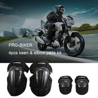 Wholesale PRO BIKER Kit Elbow Knee Pads Body Protect Guard for Motorcycle Racing Bike Riding Skating Outdoors Sports order lt no track
