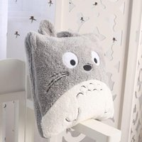 air conditioning videos - Super cute cm special anime funny totoro air condition nap plush blanket cushion toy novelty birthday gift pc