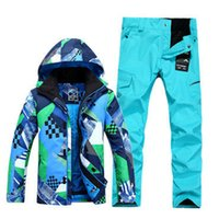 Wholesale New gsou snow brand Mixed colors winter warm hood waterproof ski jacket men outdoor sports snowboard skiing suit clothing