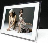 achat en gros de cadre photo écran blanc-Photo numérique écran TFT LCD de 1024x768 Frame HD 15 pouces Bluit-in multi-fonctionnelle lecteur MP3 / MP4 télécommande couleur blanc / noir