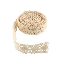 Wholesale Vintage Ivory Cream Lace Bridal Wedding Trim Ribbon Cotton Yards Beige Durable Lace Trim decorate