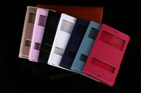 al por mayor flip xperia-Flip Ver Funda de Cuero Smart Touch Dormir casos de la cubierta con la ventana abierta Vivienda de la ventana para Sony Xperia Z2 Z3 Mini Z4 Z5 C5 M5 E3 T3