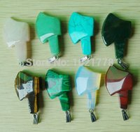 best axe - 2015 New Fashion Best Sell Assorted Natural stone Mixed Axe shape charms pendants For jewelry