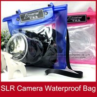 Wholesale 50PCs SLR Camera Waterproof Bag High Quality Dry Case Pouch For Canon Nikon and other SLR