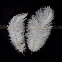 Wholesale NEW Wedding DIY Crafts Decorations inch White Ostrich Feathers cm