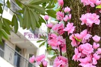 Wholesale 126CM inch length Artificial Peach Branches Cherry Blossom Silk Flowers Home Wedding party shop Decoration Flower lot1 Transactions