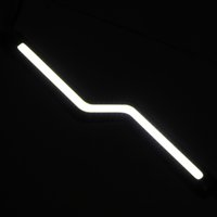 Wholesale 2pcs V Super Bright Car COB LED Daytime Running Light Waterproof IP65 K DRL Driving Lights Lamp W per Car Styling