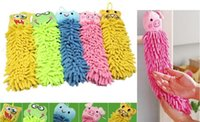 Cheap Ultra-Low Microfiber cartoon Hanging towel Cute animal cleaning towel,lovely hanging wipe towel,for Kitchen Bathroom Office Car