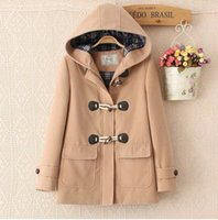 Wholesale Hot sale brand new woman Wool coat Cebus apella Long coat duffle coat Jacket Overcoat XS XL