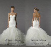 peplum - Modern Mermaid Wedding Dresses Sexy Sweetheart Backless Sheer Lace Applique Peplum Sweep Train Plus Size Puffy Tulle Wedding Gowns
