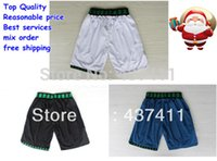 Wholesale Minnesota Throwback Retro White Blue Black Basketball Shorts Rev Brand Shorts Size M XXL