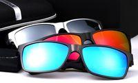 al por mayor venta al por menor gafas de sol polarizadas-gafas de sol para los hombres de HD de magnesio y aluminio de marca para hombre conducción deportiva Pesca Vidrios polarizados gafas Gafas Accesorios packagaing por menor