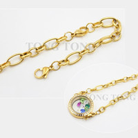 Wholesale 8 cm L Stainless Steel Knurling Bracelets Bracelet for Floating Locket