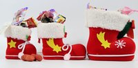 Wholesale 2015 New Christmas decoration christmas boots candy box for kids shoes christmas gifts bags SD