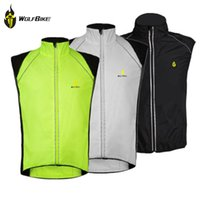 Wholesale WOLFBIKE Windproof Cycling Vest Spring Outdoor Jersey Bicycle Clothing Men Sleeveless Windbreaker Coat For Bike