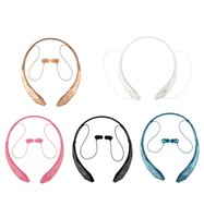 Wholesale Hot HBS HBS HBS HBS HBS902 HBS Wireless Bluetooth sports headsets headphone necksets for samsung S5 S6 iphone plus LG